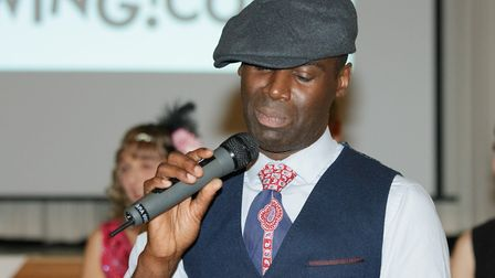 Strictly Come Jive & Swing host Joseph Sewell on the mic. Picture: Andrew Hyde
