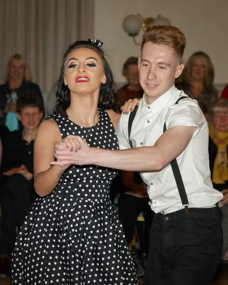 Strictly Come Jive & Swing 2018: Jess Carter and Harry Folgate perform. Picture: Andrew Hyde