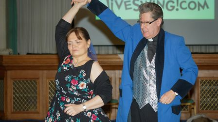 Strictly Come Jive & Swing 2018: Reverend Terrance Bell and Dr Sarah Bell perform. Picture: Andrew H