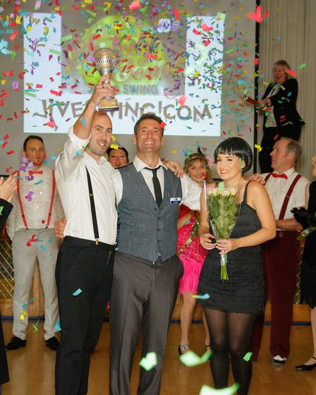 Strictly Come Jive & Swing 2018: Winning couple Harry Johnson and Sharon Brown celebrate with event