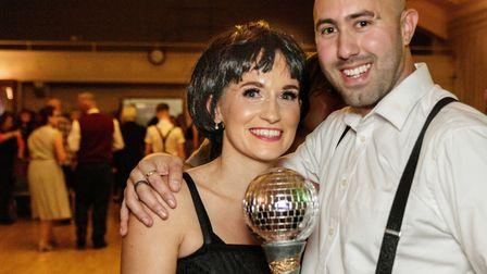 Strictly Come Jive & Swing 201: Winning couple Harry Johnson and Sharon Brown. Picture: Andrew Hyde