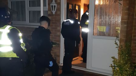 Police officers raided seven properties this morning in a bid to tackle drugs gangs. Picture courtes