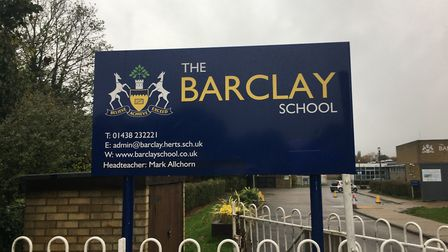 The Barclay School in Stevenage. Picture: Barclay School