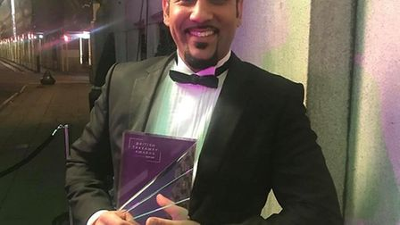 Dal Sidhu was over the moon with the big win for J's Grill at the British Takeaway Awards. Picture: