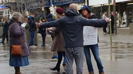 Volunteers campaigning for a People's Vote spoke to shoppers on Saturday ahead of meaningful vote th