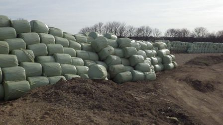 Waste stored near the Royston Sewage Treatment Works by Winters Haulage; Picture: Environment Agency