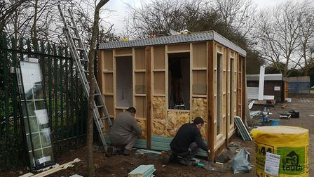 Volunteers came out over the Christmas break to create the new room. Picture: Jemma Schofield