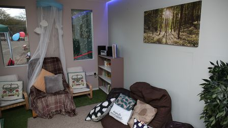 The opening of the new mindfulness room at Garden City Academy. Picture: DANNY LOO