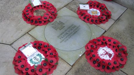 The memorial stone for Victoria Cross winner, Second lieutenant Frank Young. Picture: Jonty Wild