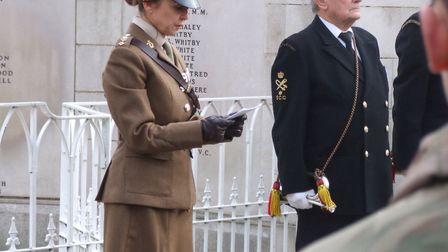 Victoria Cross winner, Second lieutenant Frank Young is honoured at a memorial service on Sunday. Pi