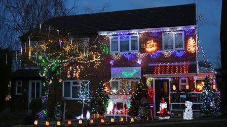 Christmas lights in Meadowbank, Hitchin. Picture: DANNY LOO