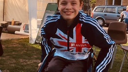 There's no stopping Jack Gower now he has his own racing wheelchair. Picture: