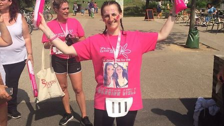 Laura Burlingham from Knebworth was the first person to finish Steps for Jo's, a 5km walk for Jo's C