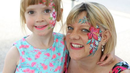 Festivities included face painting, colouring and a bouncy castle at the Baldock Big Lunch. Picture: