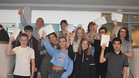Nobel students received their A-level results this morning. Picture: Nobel