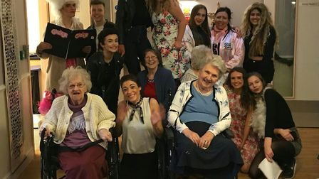 Nobel School students with staff and residents at Roebuck Nursing Home. Picture: Roebuck Nursing Hom