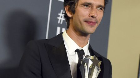 """Ben Whishaw, winner of the award for best supporting actor in a movie/miniseries for """"A Very English"""
