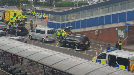 A man has been arrested after a stabbing outside of Stevenage Railway Station this afternoon. Pictur
