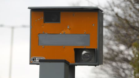 Perrie Harvey was fined for his V-sign gesture to a speed camera. Picture: Archant