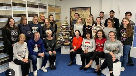 Businesses and schools donned their Christmas jumpers to support children's charity Home-Start. Pict
