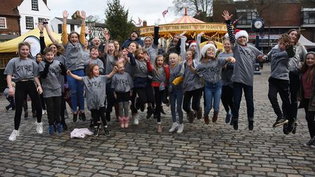 Tom Veasey organised the flashmob sang to celebrate the launch of StarMe. Picture; MediaSnug