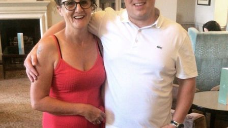 Danny with his mum Sally. Picture courtesy of Carly Cook.