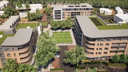 Computer-generated images of what the Kenilworth Close development will look like.
