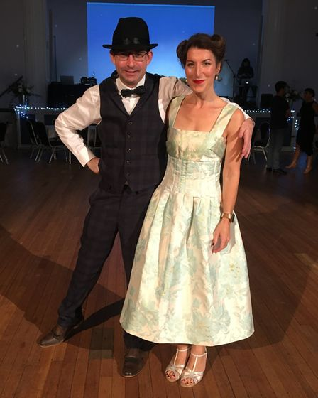 Hitchin author Zoe Folbigg and Jason Wood performed a quickstep . Picture: Courtesy of Zoe Folbigg