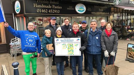 North Herts for Europe campaign group during their action day. Picture: Richard Scott