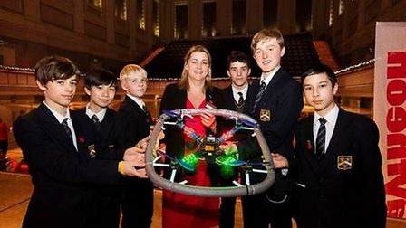 Students from Hitchin Boys' School finished second in the national finals of Raytheon's Quadcopter C