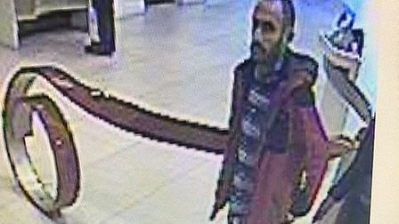 Police would like to speak to this man in connection with six charity box thefts in Stevenage. Pictu