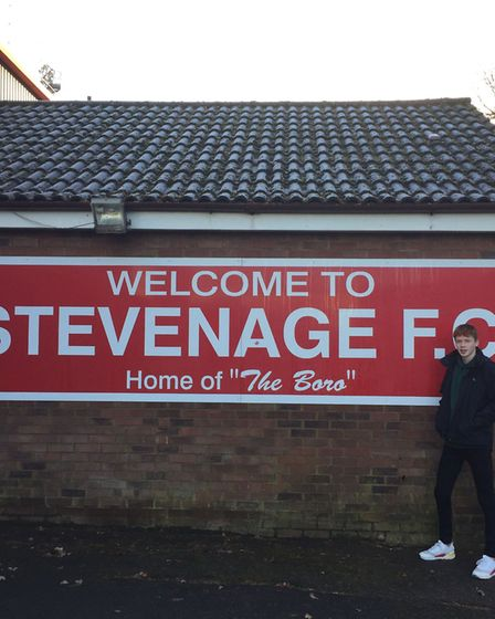 Archie Summerhayes at Stevenage FC. Picture: Max Summerhayes
