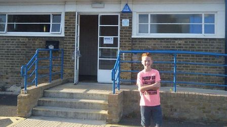 Archie Summerhayes at Enfield Town FC. Picture: Max Summerhayes