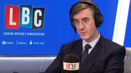 Jacob Rees-Mogg on LBC Radio. Photograph: LBC.