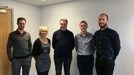 The Chairman's Volunteer Achievement Awards 2019 judges. From left to right, Comet editor Nick Gill,