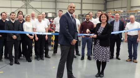 Alex Mayer MEP opened the new headquarters for Optimal Technologies in Letchworth. Picture: Courtesy