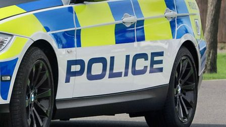 Police attended the scene on Fairlands Way in Stevenage yesterday.
