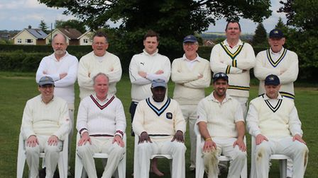 Knebworth Blues XI at the start of the 2014 season. Keith Lander can be seen third from the right, b