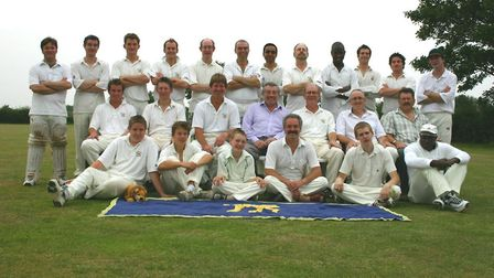 Current and former players assembled for the annual 'President's Match' at Hitchin in 2008. Picture: