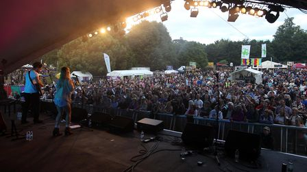 The Shires perform at Rhythms of the World 2015. Picture: Harry Hubbard