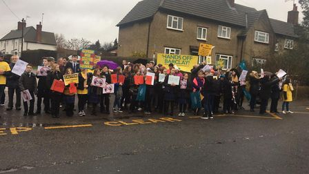 Staff from Stevenage's The Barclay School went on strike last Wednesday, and are set to do the same
