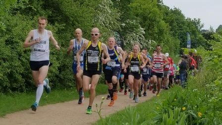 Runners at the start of the 2018 Greenway Challenge in Letchworth. Picture: James Walsh