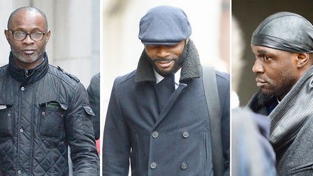 (left to right) ex-rugby player Bright Sodje and ex-footballers Stephen Sodje and Efe Sodje, were fo