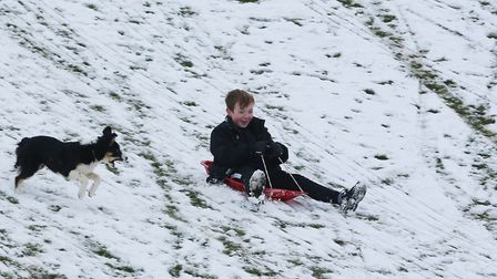 Snow in Stevenage. Picture: DANNY LOO