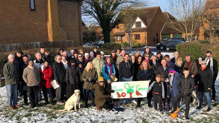 A campaign against the proposed housing development is gathering momentum. Picture: Nick Groves.