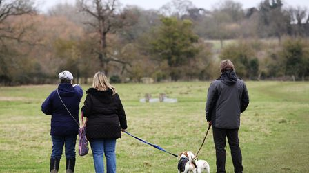 Volunteers set off from Radwell Meadows to search for missing dog, Ernie, on Saturday morning. Pictu
