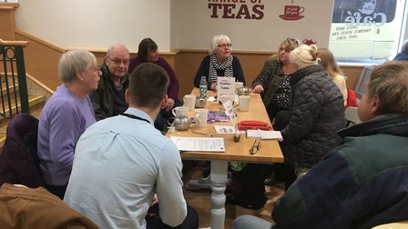 Chatter Tables in Letchworth will become a regular event after the first session was a success. Pict