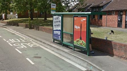 A bus stop in Grove Road, Hitchin. Picture: Google Maps