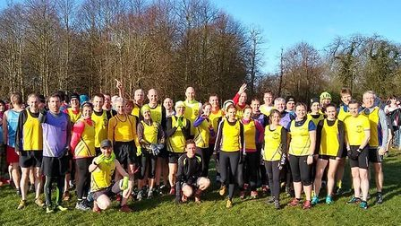 Saffron Striders Running Club were out in force at the Winter Cross Country League race in Ware.