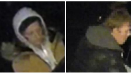 Police would like to speak to the two men pictured, as they believe they may have information which
